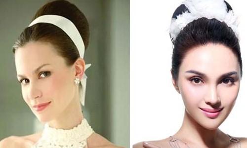 脸型微长适合什么新娘发型 脸有点长应该剪图片