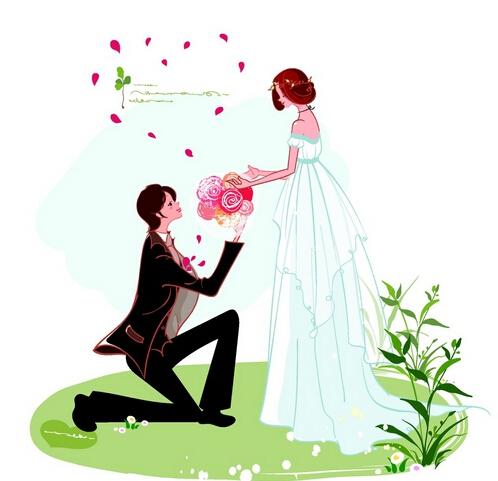 简单手绘鲜花求爱