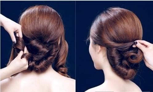 新娘发型详细步骤图片