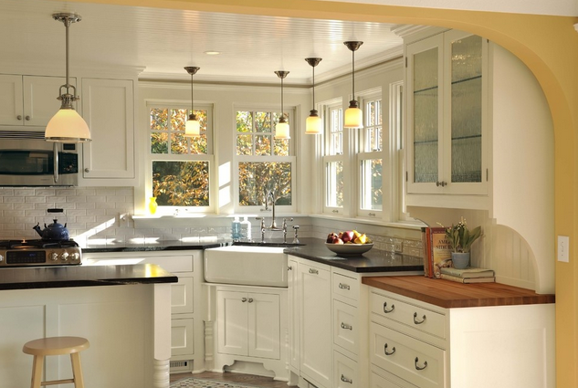 小户型敞开式厨房欧式装修效果图
