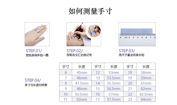 男士戒指尺寸的测量方法